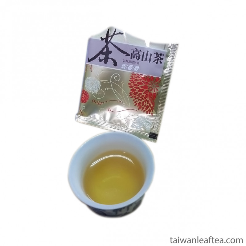 Li Shan High Mountain Organic Oolong in tea bags (梨山高山有機烏龍茶)